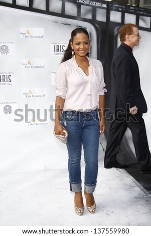 LOS ANGELES, CA - SEP 25: Christina Milian at the IRIS, A Journey Through the World of Cinema by Cirque du Soleil premiere September 25, 2011 at Kodak Theater in Los Angeles, California