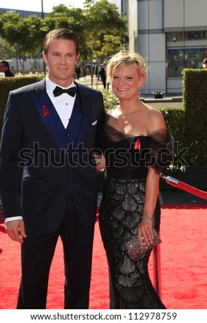 LOS ANGELES, CA - SEP 15: Garret Dillahunt, Martha Plimpton at the Academy Of Television Arts & Sciences 2012 Creative Arts Emmy Awards at Nokia Theater on September 15, 2012 in Los Angeles, CA - stock photo
