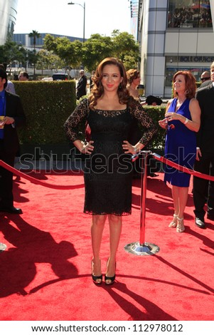 LOS ANGELES, CA - SEP 15: Maya Rudolph at the Academy Of Television Arts & Sciences 2012 Creative Arts Emmy Awards held at Nokia Theater L.A. LIVE on September 15, 2012 in Los Angeles, California