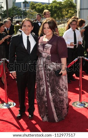 LOS ANGELES, CA - SEP 15: Melissa McCarthy, Ben Falcone at the Academy Of Television Arts & Sciences 2012 Creative Arts Emmy Awards held at Nokia Theater on September 15, 2012 in Los Angeles, CA