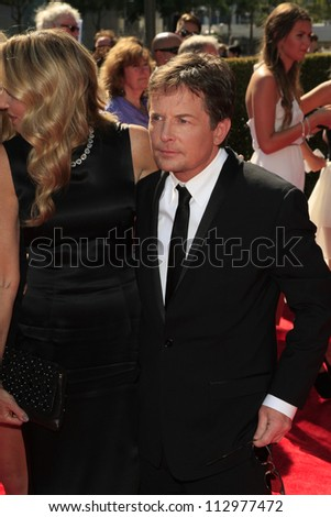 LOS ANGELES, CA - SEP 15: Michael J Fox at the Academy Of Television Arts & Sciences 2012 Creative Arts Emmy Awards held at Nokia Theater L.A. LIVE on September 15, 2012 in Los Angeles, California