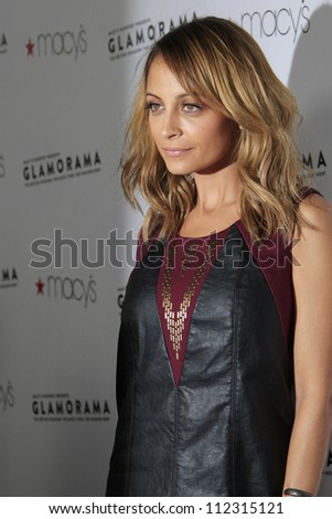 LOS ANGELES, CA - SEP 7: Nicole Richie at Macy's Passport Presents: Glamorama - 30th Anniversary in Los Angeles held at The Orpheum Theater on September 7, 2012 in Los Angeles, California.