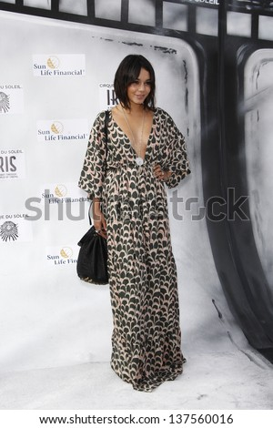 LOS ANGELES, CA - SEP 25: Vanessa Hudgens at the IRIS, A Journey Through the World of Cinema by Cirque du Soleil premiere September 25, 2011 at Kodak Theater in Los Angeles, California
