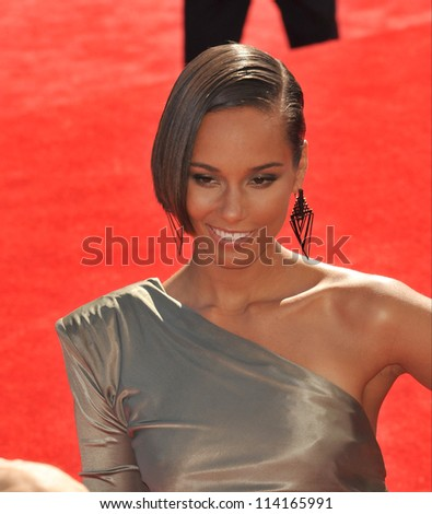 LOS ANGELES, CA - SEPTEMBER 6, 2012: Alicia Keys at the 2012 MTV Video Music Awards at Staples Center, Los Angeles.