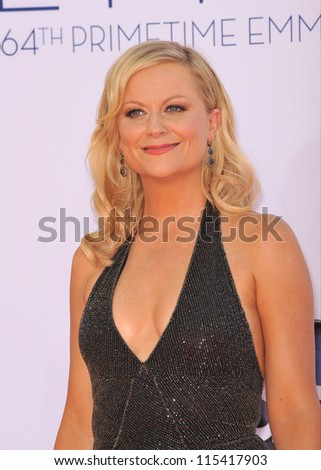 LOS ANGELES, CA - SEPTEMBER 23, 2012: Amy Poehler at the 64th Primetime Emmy Awards at the Nokia Theatre LA Live.