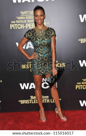 "LOS ANGELES, CA - SEPTEMBER 17, 2012: Candace Smith at the premiere of her movie ""End of Watch"" at the Regal Cinemas LA Live. - stock photo"