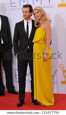 LOS ANGELES, CA - SEPTEMBER 23, 2012: Claire Danes & Hugh Dancy at the 64th Primetime Emmy Awards at the Nokia Theatre LA Live. - stock photo