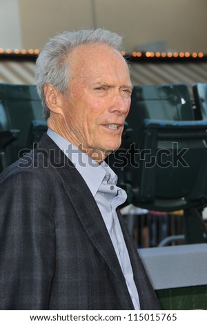 "LOS ANGELES, CA - SEPTEMBER 19, 2012: Clint Eastwood at the premiere of his movie ""Trouble With The Curve"" at the Mann Village Theatre, Westwood."