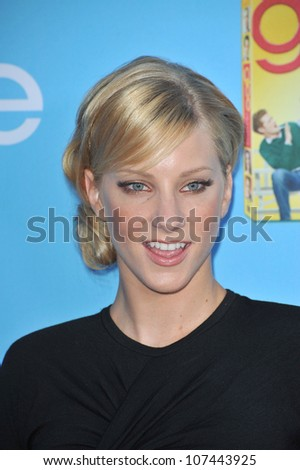 "LOS ANGELES, CA - SEPTEMBER 7, 2010: ""Glee"" star Heather Morris at the season two premiere screening & party for ""Glee"" at Paramount Studios, Hollywood."