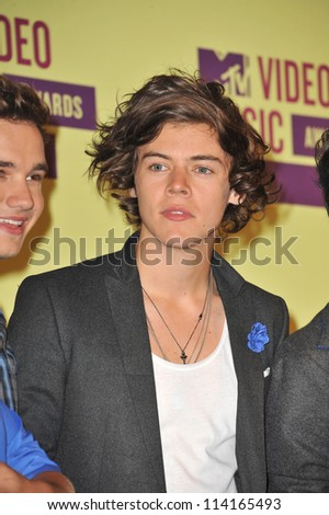 LOS ANGELES, CA - SEPTEMBER 6, 2012: Harry Styles of One Direction at the 2012 MTV Video Music Awards at the Staples Center, Los Angeles.