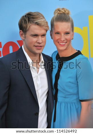 "LOS ANGELES, CA - SEPTEMBER 12, 2012: Heather Morris & Chord Overstreet at the season four premiere of ""Glee"" at Paramount Studios, Hollywood."
