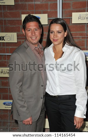 LOS ANGELES, CA - SEPTEMBER 10, 2012: Hell's Kitchen finalists Justin Antiorio & Christina Wilson at the Fox Fall Eco-Casino Party in Culver City.