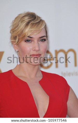 LOS ANGELES, CA - SEPTEMBER 18, 2011: Kate Winslet at the 2011 Primetime Emmy Awards at the Nokia Theatre, L.A. Live. September 18, 2011  Los Angeles, CA