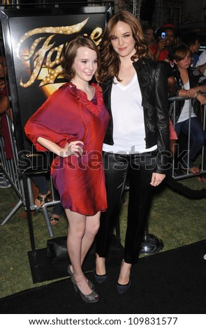 """LOS ANGELES, CA - SEPTEMBER 23, 2009: Kay Panabaker (left) & Danielle Panabaker at the Los Angeles premiere of Kay's new movie """"Fame"""" at The Grove Theatre, Los Angeles. - stock photo"""