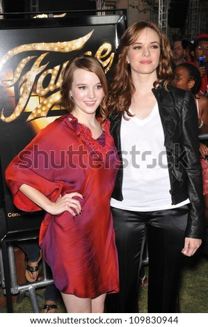"LOS ANGELES, CA - SEPTEMBER 23, 2009: Kay Panabaker (left) & Danielle Panabaker at the Los Angeles premiere of Kay's new movie ""Fame"" at The Grove Theatre, Los Angeles. - stock photo"
