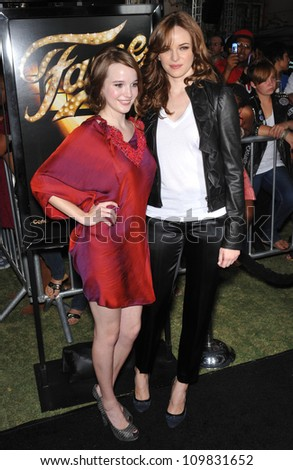 "LOS ANGELES, CA - SEPTEMBER 23, 2009: Kay Panabaker (left) & Danielle Panabaker at the Los Angeles premiere of Kay's new movie ""Fame"" at The Grove Theatre, Los Angeles."