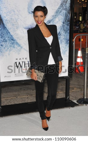 "LOS ANGELES, CA - SEPTEMBER 9, 2009: Kim Kardashian at the Los Angeles premiere of ""Whiteout"" at Mann Village Theatre, Westwood."