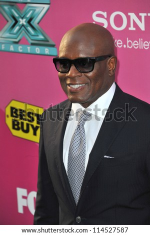 "LOS ANGELES, CA - SEPTEMBER 11, 2012: L.A. Reid at the season two premiere of ""X Factor USA"". He had his handprints set in cement at Grauman's Chinese Theatre"