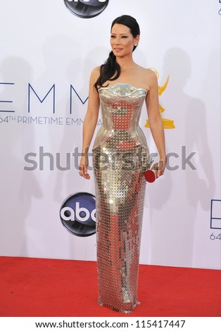 LOS ANGELES, CA - SEPTEMBER 23, 2012: Lucy Liu at the 64th Primetime Emmy Awards at the Nokia Theatre LA Live.