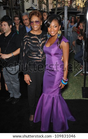 "LOS ANGELES, CA - SEPTEMBER 23, 2009: Naturi Naughton & Dionne Warwick (left) at the Los Angeles premiere of Naturi's new movie ""Fame"" at The Grove Theatre, Los Angeles."