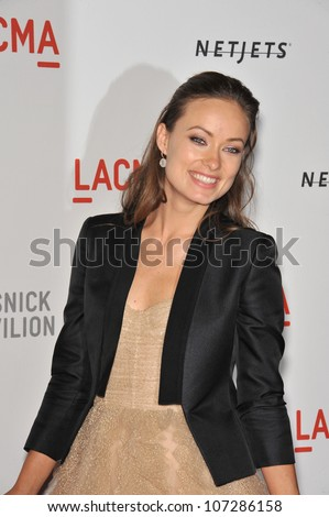 LOS ANGELES, CA - SEPTEMBER 25, 2010: Olivia Wilde at a benefit gala at  LACMA for the opening of  The Lynda & Stewart Resnick Exhibition Pavilion in Los Angeles, CA. - stock photo