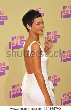 LOS ANGELES, CA - SEPTEMBER 6, 2012: Rihanna at the 2012 MTV Video Music Awards at Staples Center, Los Angeles.