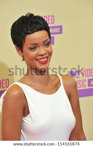 LOS ANGELES CA SEPTEMBER 6 2012 Rihanna at the 2012 MTV Video Music Awards at Staples Center Los Angeles