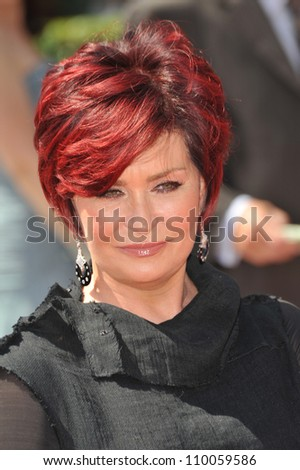 LOS ANGELES, CA - SEPTEMBER 12, 2009: Sharon Osbourne at the 2009 Creative Arts Emmy Awards at the Nokia Theatre L.A. Live.
