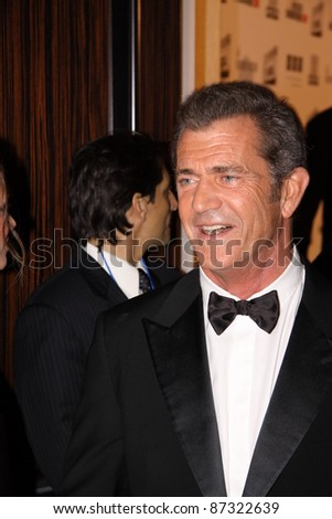LOS ANGELES, CA, USA - OCTOBER 14: Actor Mel Gibson attends the 25Th American Cinematheque Awards Ceremony honoring Robert Downey Jr. at the Beverly Hilton on October 14, 2011 in Los Angeles, CA.