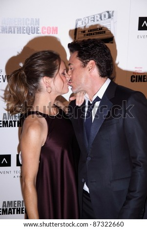 LOS ANGELES, CA, USA - OCTOBER 14: Actor Robert Downey Jr.and wife Susan Downey attend the 25Th American Cinematheque Awards Ceremony at the Beverly Hilton on October 14, 2011 in Los Angeles, CA.
