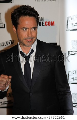 LOS ANGELES, CA, USA - OCTOBER 14: Actor Robert Downey Jr. attends the 25Th American Cinematheque Awards Ceremony at the Beverly Hilton on October 14, 2011 in Los Angeles, CA.