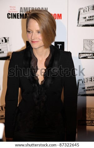 LOS ANGELES, CA, USA - OCTOBER 14: Actress Jodie Foster attends the 25Th American Cinematheque Awards Ceremony honoring Robert Downey Jr. at the Beverly Hilton on October 14, 2011 in Los Angeles, CA.