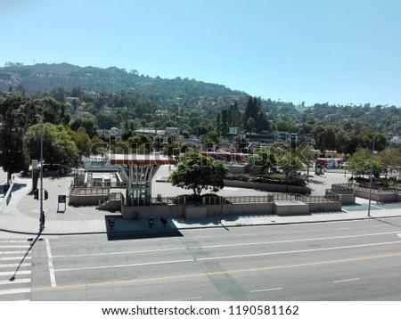LOS ANGELES, California - September 19, 2018: view of UNIVERSAL CITY/STUDIOS #1190581162