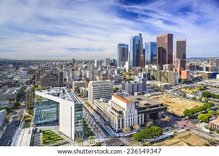 Los Angeles, California, USA downtown cityscape. #236549347