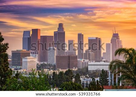 Los Angeles, California, USA downtown skyline. #539331766