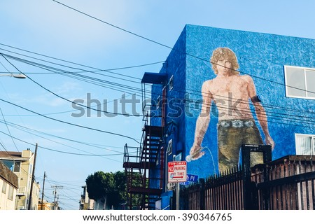 los angeles   circa 2011 blue...