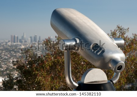 Los angeles coin operated telescope