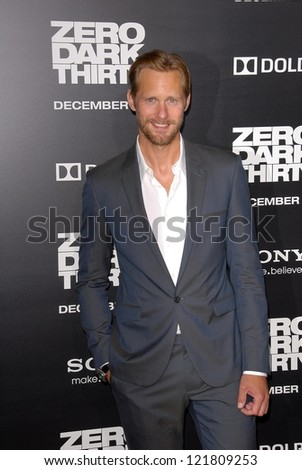 LOS ANGELES - DEC 10:  Alexander Skarsgard arrives to the 'Zero Dark Thirty' premiere at Dolby Theater on December 10, 2012 in Los Angeles, CA