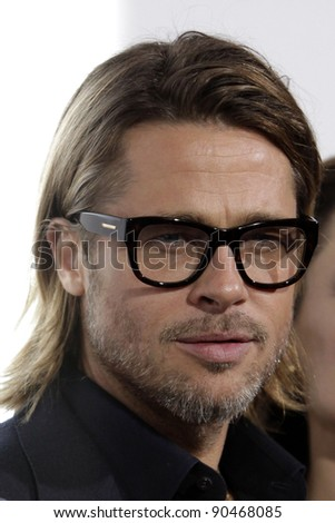 """LOS ANGELES - DEC 8:  Brad Pitt arrives at the """"In the Land of Blood and Honey"""" LA Premiere at ArcLight Cinemas on December 8, 2011 in Los Angeles, CA"""