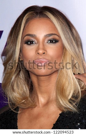 LOS ANGELES - DEC 16:  Ciara arriving at the VH1 Divas Concert 2012 at Shrine Auditorium on December 16, 2012 in Los Angeles, CA