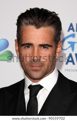 LOS ANGELES - DEC 9:  Colin Farrell arrives at the 2011 American Giving Awards at Dorothy Chandler Pavilion on December 9, 2011 in Los Angeles, CA