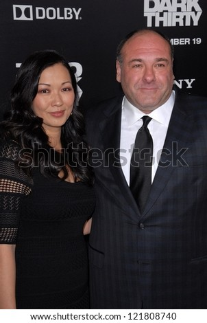LOS ANGELES - DEC 10:  James Gandolfini arrives to the 'Zero Dark Thirty' premiere at Dolby Theater on December 10, 2012 in Los Angeles, CA
