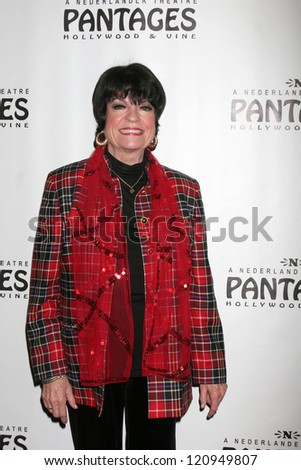 "LOS ANGELES - DEC 4:  JoAnne Worley arrives to ""Donny & Marie - Christmas in Los Angeles"" Opening Night at Pantages Theater on December 4, 2012 in Los Angeles, CA"