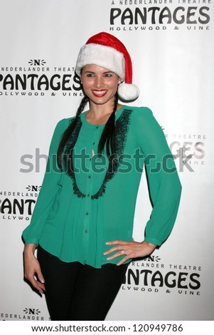 "LOS ANGELES - DEC 4:  Katrina Law arrives to ""Donny & Marie - Christmas in Los Angeles"" Opening Night at Pantages Theater on December 4, 2012 in Los Angeles, CA - stock photo"