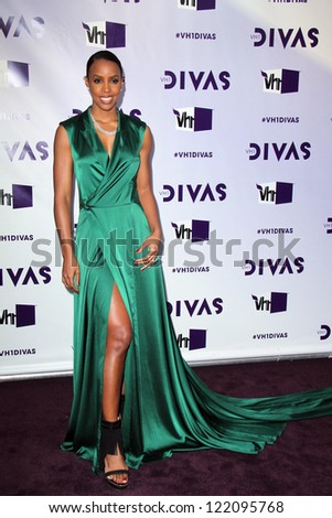 LOS ANGELES - DEC 16:  Kelly Rowland arriving at the VH1 Divas Concert 2012 at Shrine Auditorium on December 16, 2012 in Los Angeles, CA - stock photo