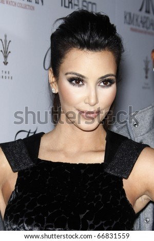 LOS ANGELES - DEC 7:  Kim Kardashian arrives at the Launch of her Signature Watch Collection with The Brissmor Company at Whisper Lounge - The Grove on December 7, 2010 in Los Angeles, CA.