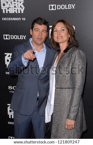 LOS ANGELES - DEC 10:  Kyle Chandler, Kathryn Chandler arrive to the 'Zero Dark Thirty' premiere at Dolby Theater on December 10, 2012 in Los Angeles, CA - stock photo