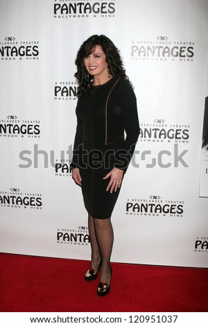 """LOS ANGELES - DEC 4:  Marie Osmond arrives to """"Donny & Marie - Christmas in Los Angeles"""" Opening Night at Pantages Theater on December 4, 2012 in Los Angeles, CA"""
