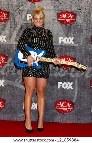 LOS ANGELES - DEC 10:  Miranda Lambert in the press room of the American Country Awards 2012 at Mandalay Bay Resort and Casino on December 10, 2012 in Las Vegas, NV - stock photo