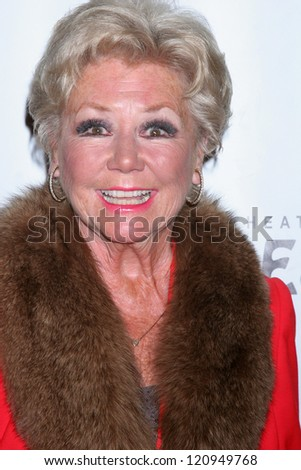 "LOS ANGELES - DEC 4:  Mitzi Gaynor arrives to ""Donny & Marie - Christmas in Los Angeles"" Opening Night at Pantages Theater on December 4, 2012 in Los Angeles, CA - stock photo"